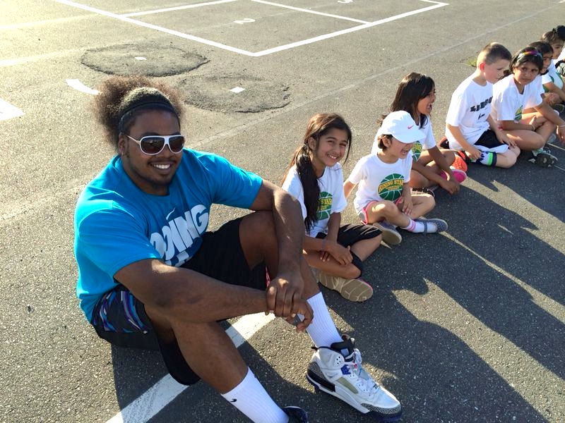 Nate Brown plays it cool with campers!