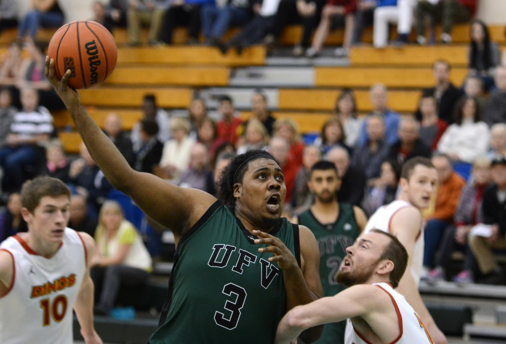 Power forward Nate Brown had a big game in the Cascades' series-clinching win over the Calgary Dinos on Saturday.