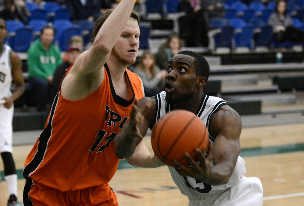 Kadeem Willis scored a game-high 22 points in UFV's blowout win over Thompson Rivers.