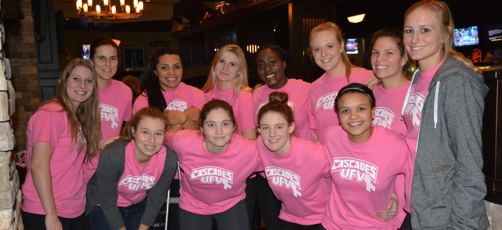 The UFV women's basketball team put together a successful fundraising event for breast cancer research.