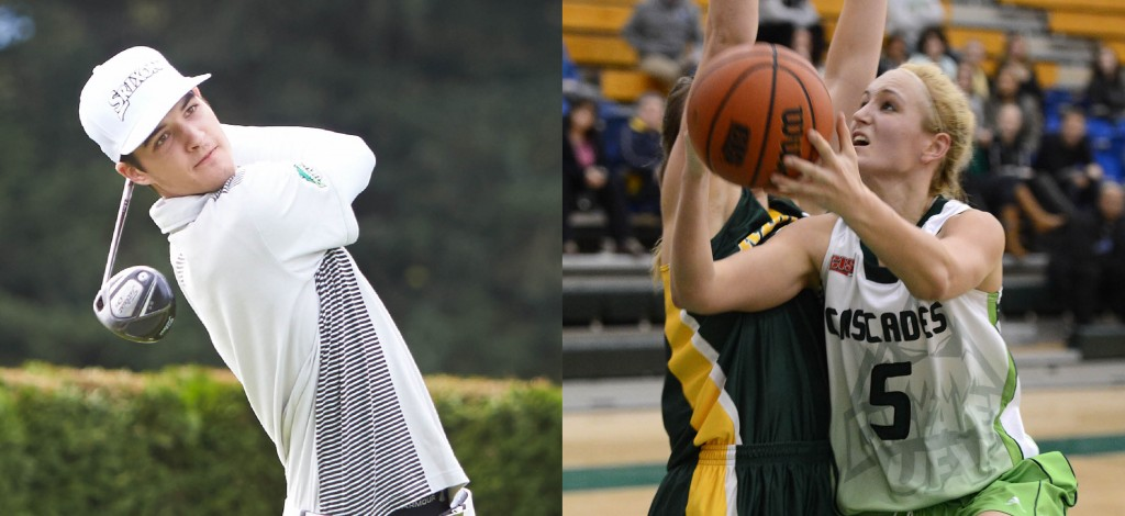 Aaron Pauls and Sarah Wierks have been named UFV's athletes of the year for 2014-15.