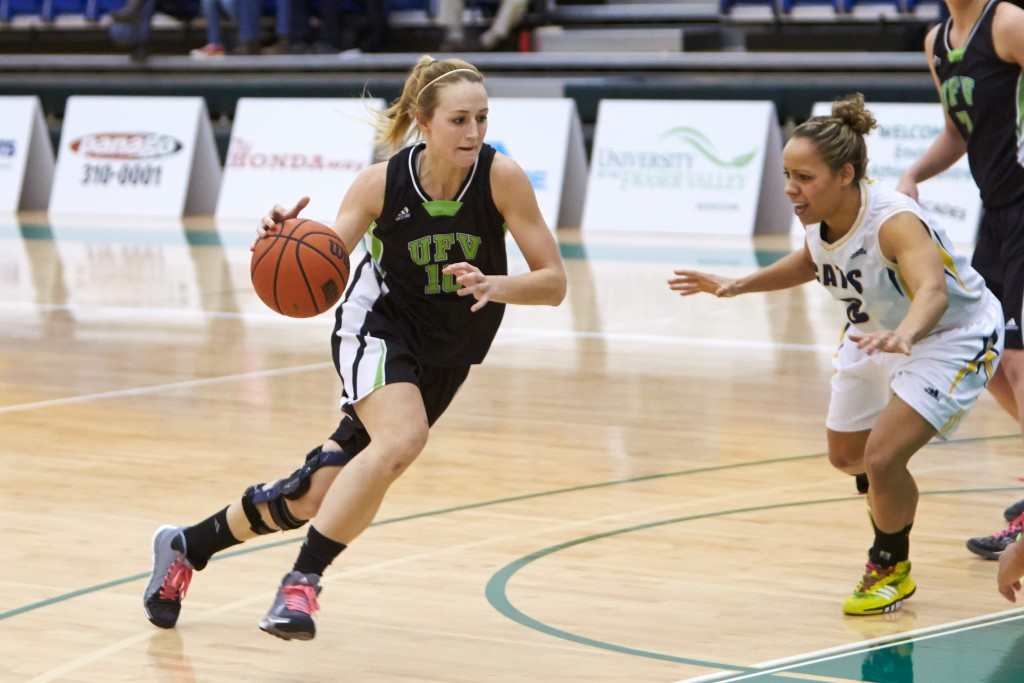 Nicole Wierks had a decorated career with the Cascades women's basketball team, highlighted by four straight trips to the Canada West Final Four and a CIS bronze medal. (Tree Frog Imaging file photo)