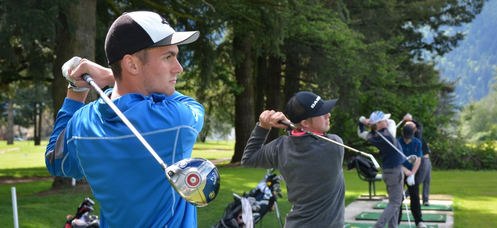 Nathan Bahnman (left) is set to join the UFV Cascades men's golf team this fall.