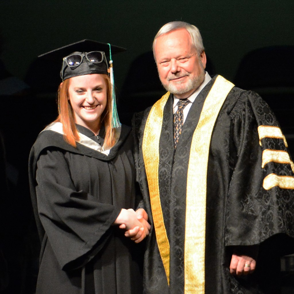 Former Cascades student trainer Tahira Larson earned her kinesiology degree.