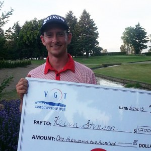 Kevin Stinson of Mission took home first-place money at the UFV Cascades Pro-Am on Monday.