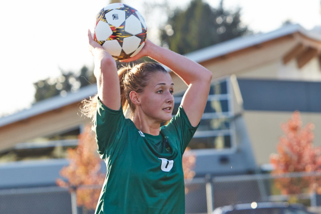 Jade Palm and the UFV women's soccer team posted a 3-1 record on their recent road trip to Oregon. (Tree Frog Imaging photo)