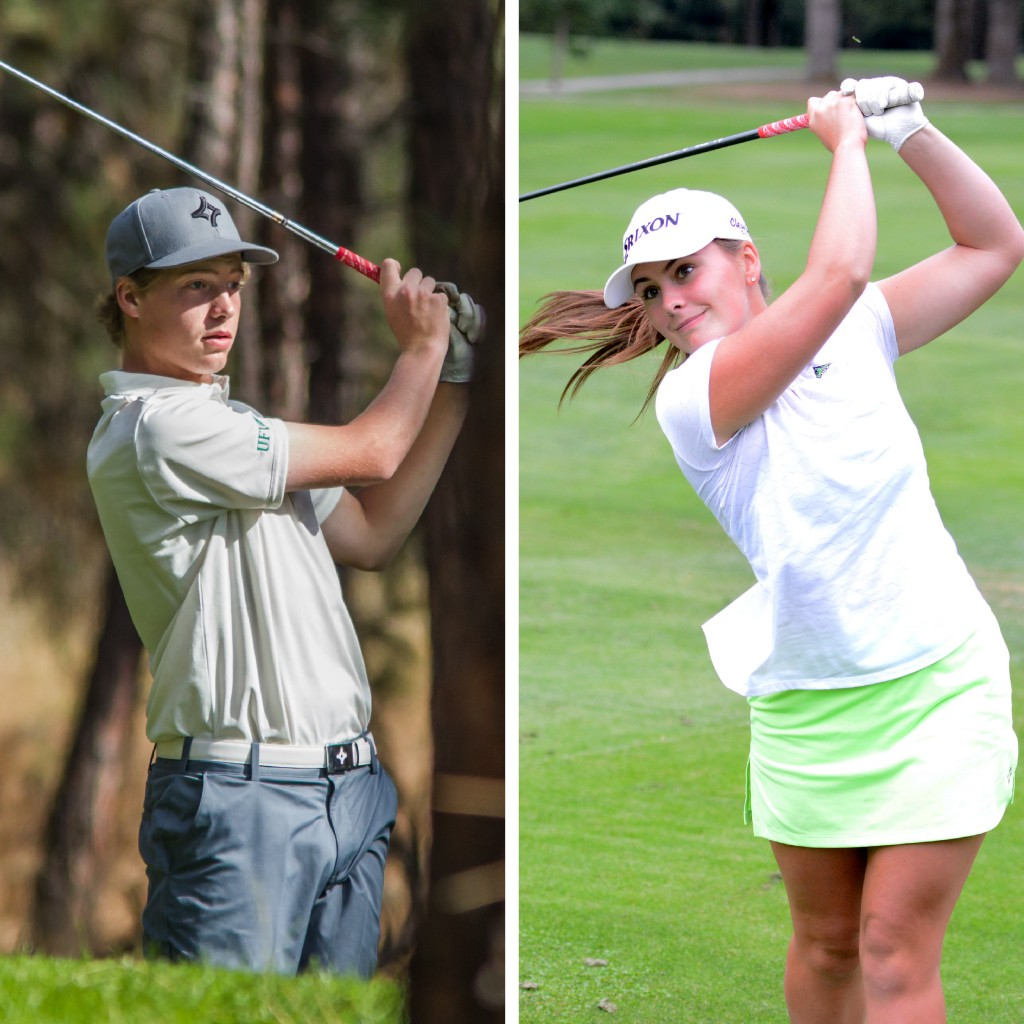 Zach Olson and Hannah Dirksen will be among the key players for the Cascades golf teams this season.