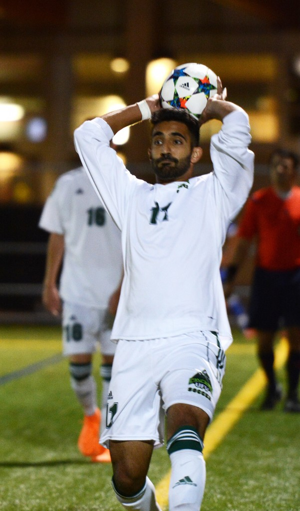 Justin Sekhon was UFV's game MVP in Sunday's 3-0 win over the UNBC Timberwolves. (UFV Athletics file photo)