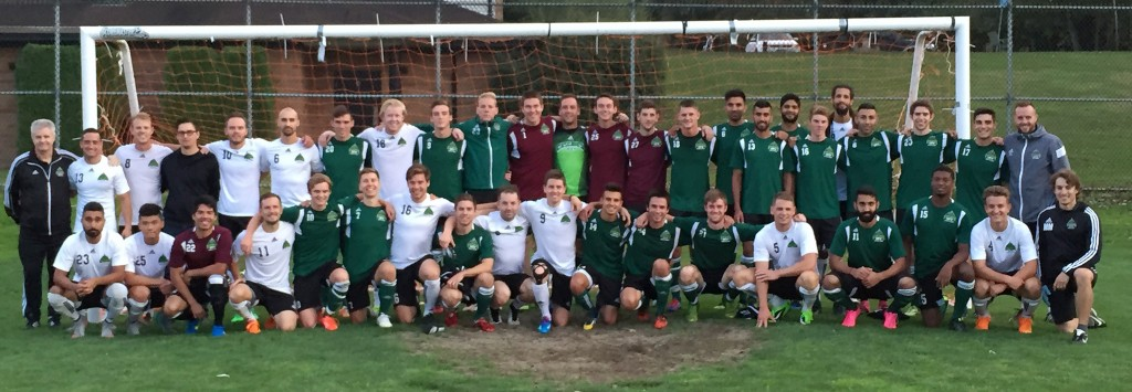 The Cascades men's soccer team held an alumni game on Friday, giving current players a chance to connect with past stars of the program.