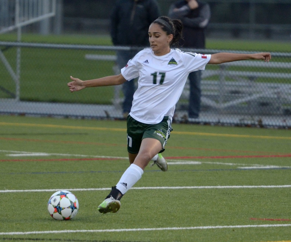 Gurneet Dhaliwal notched her first two goals as a Cascade in Wednesday's 2-1 win over SFU.