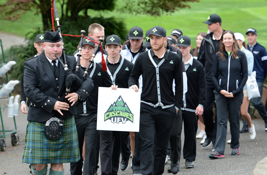 The 2015 PING CCAA Golf Championships opening ceremony was Tuesday morning, and the tournament tees off Wednesday at Chilliwack Golf Club.