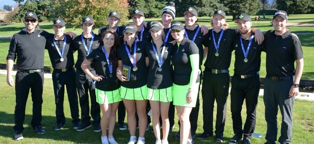 The Cascades men's and women's golf teams both wrapped up PacWest team silver medals at the UFV Invitational this weekend. They host nationals next week, Oct. 13-16 at Chilliwack Golf Club.