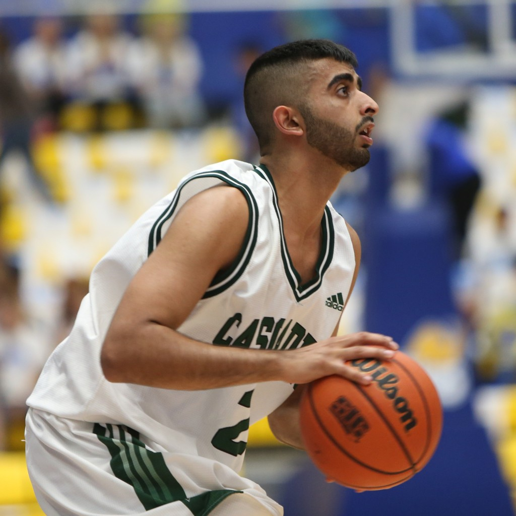 UFV point guard Manny Dulay scored 11 points in a hard-fought loss to Carleton.