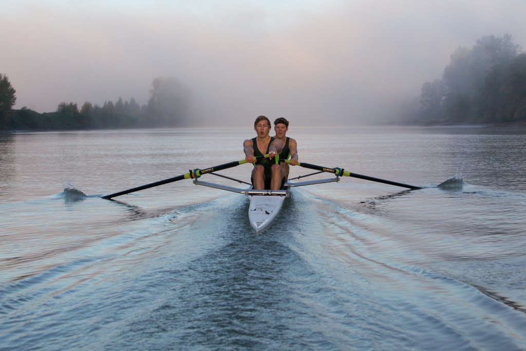 Cascades rowers Kyle Krahn and Stephen Wall will be competing at university nationals this weekend. (Boro Kasic photo)