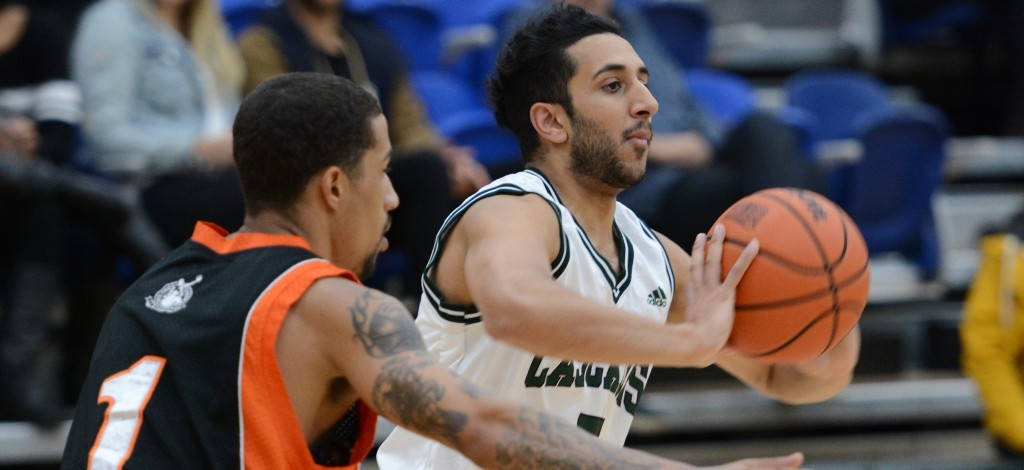 Vijay Dhillon counted five three-pointers among his team-high 19 points as the Cascades beat Trinity Western in exhibition action on Friday. (UFV Athletics file photo)