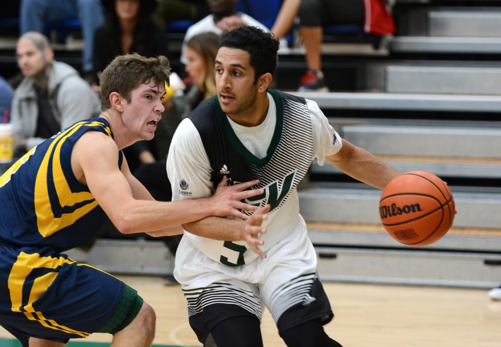 Vijay Dhillon led the Cascades with 19 points in a preseason victory over Manitoba. (UFV Athletics file photo)