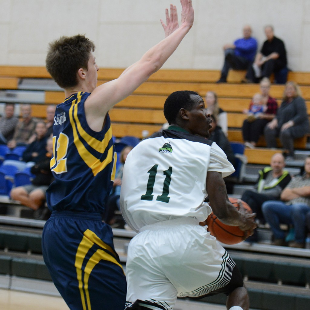 Cascades shooting guard Kevon Parchment scored a game-high 23 points as UFV beat Trinity Western 77-68 on Saturday.