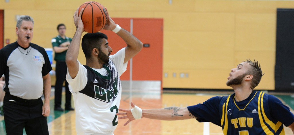 UFV guard Manny Dulay scored 12 points in his team's comeback win over Trinity Western.