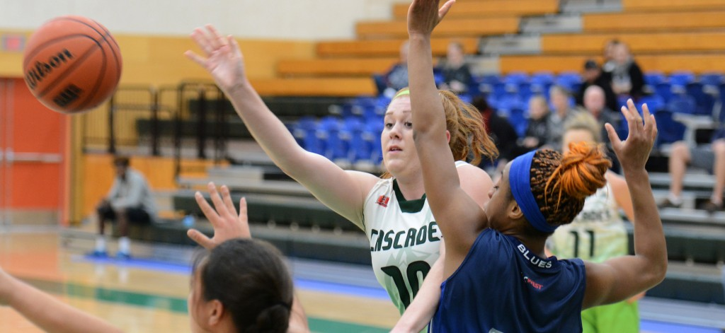 Taylor Claggett fires a pass to a Cascades teammate during Friday's exhibition win over Capilano.