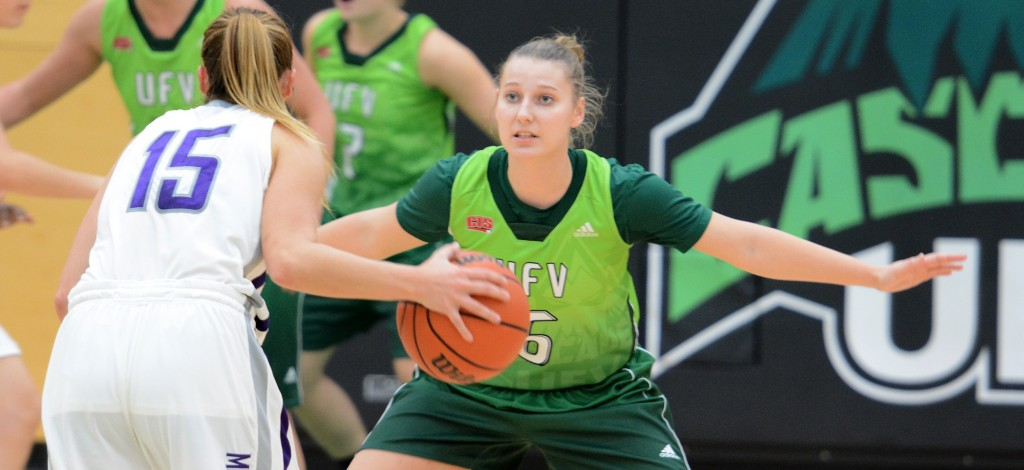 Cascades guard Kaitlyn McDonald knocked down five three-pointers in her team's exhibition win over Western on Saturday.