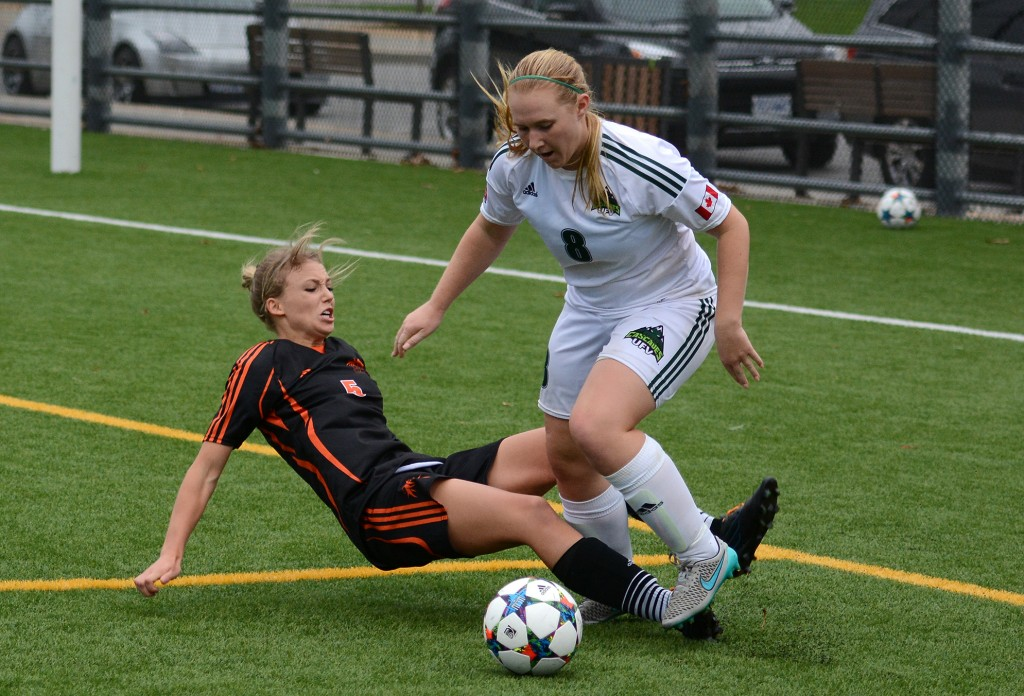 Cascades senior striker Shelby Beck notched her first goal of the season on Sunday vs. the Mount Royal Cougars. (UFV Athletics file photo)