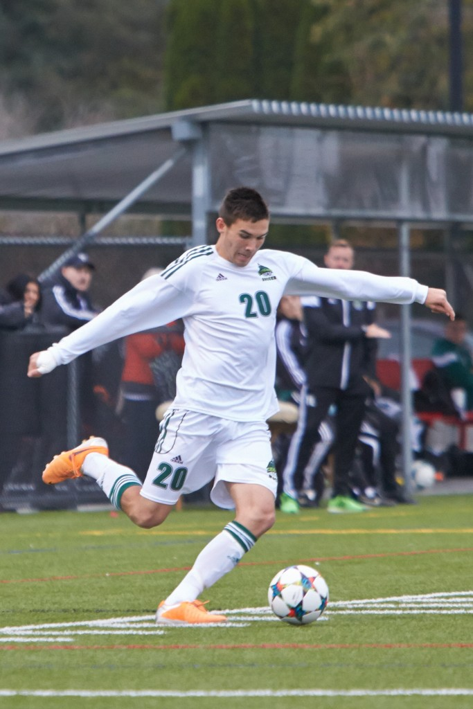 Tammer Byrne and the Cascades are seeking an upset win over the CIS No. 1-ranked UBC Thunderbirds in the Canada West semifinals. (Tree Frog Imaging file photo)