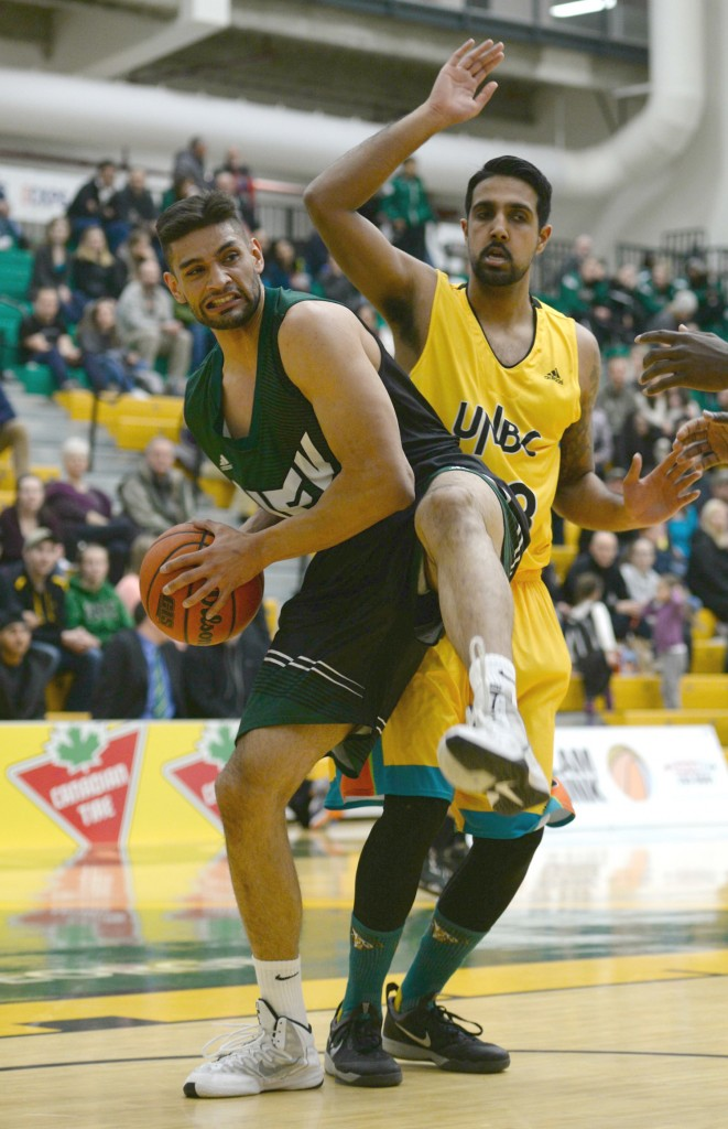 UFV centre Nav Bains posted eight points and six rebounds on Friday.