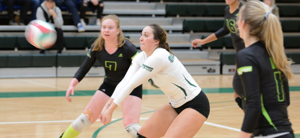 UFV libero Amy Davidson had 13 digs in Saturday's three-set loss to Capilano.