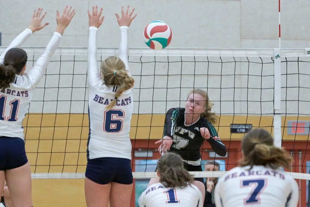 Rachel Funk was a catalyst for the Cascades women's volleyball team last weekend as they swept Camosun.