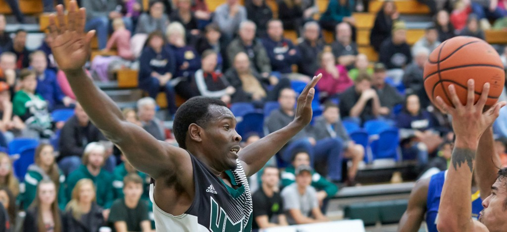 Kevon Parchment has made an impact this season at both ends of the court for the Cascades men's basketball team.