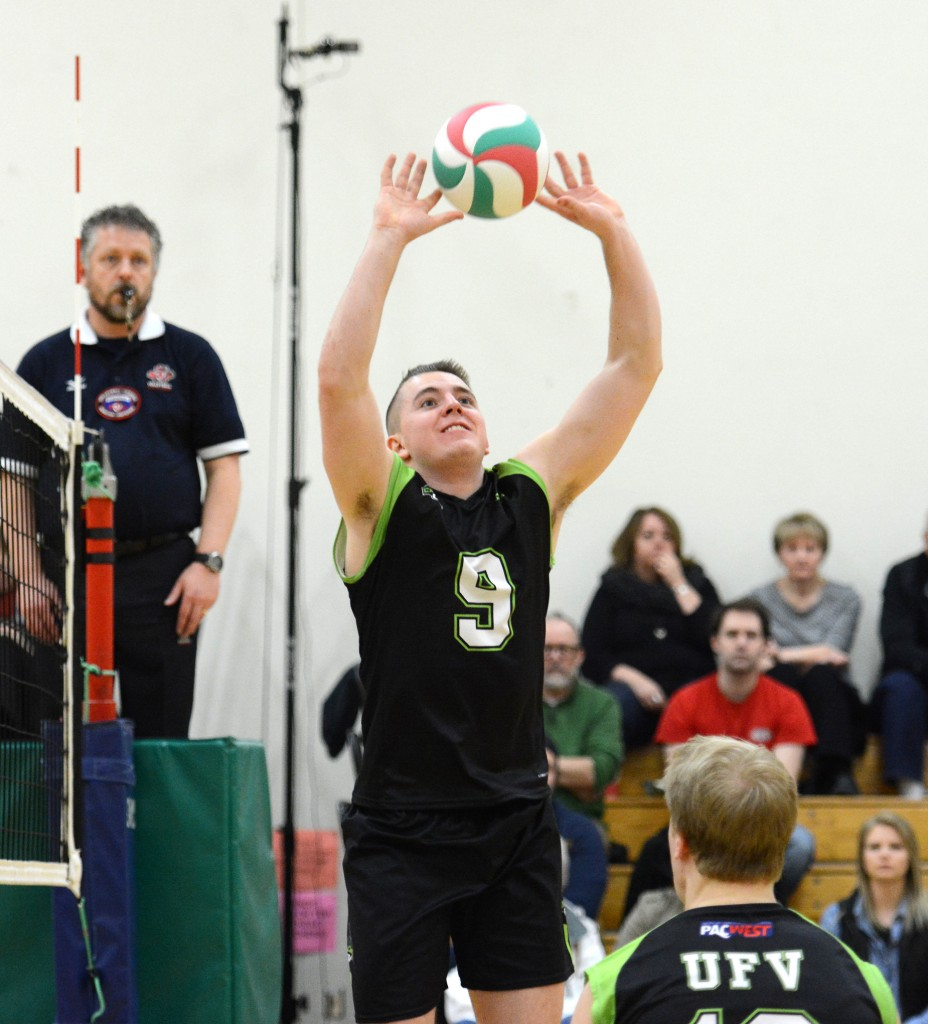 Cascades setter Adam Fredrickson piloted a balanced offence on Sunday.