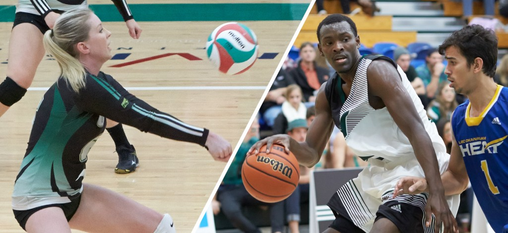Fifth-year Cascades stars Nicole Blandford and Kevon Parchment have earned athlete of the week honours.