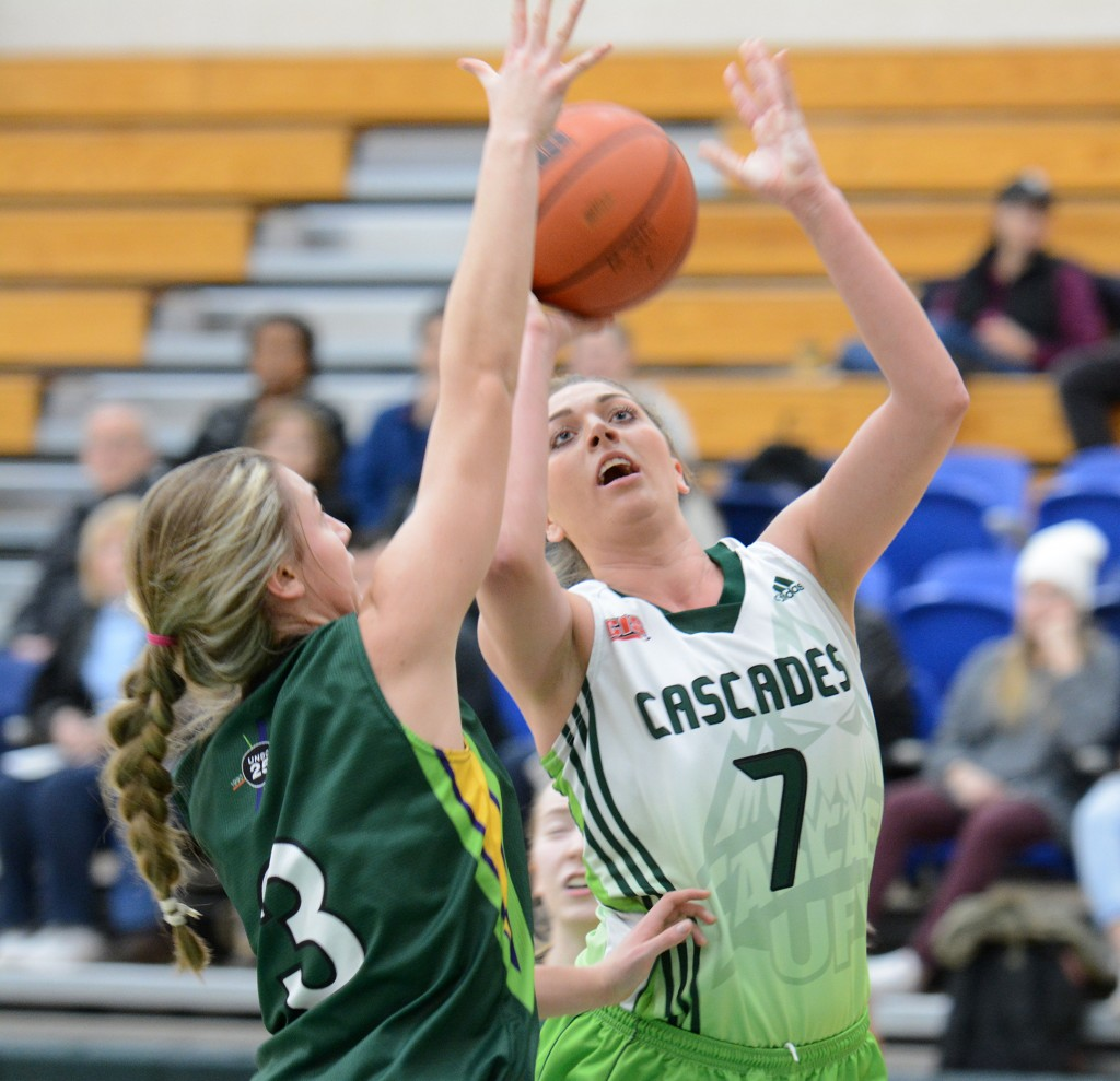 Kayli Sartori registered 14 points and 10 rebounds on Friday.