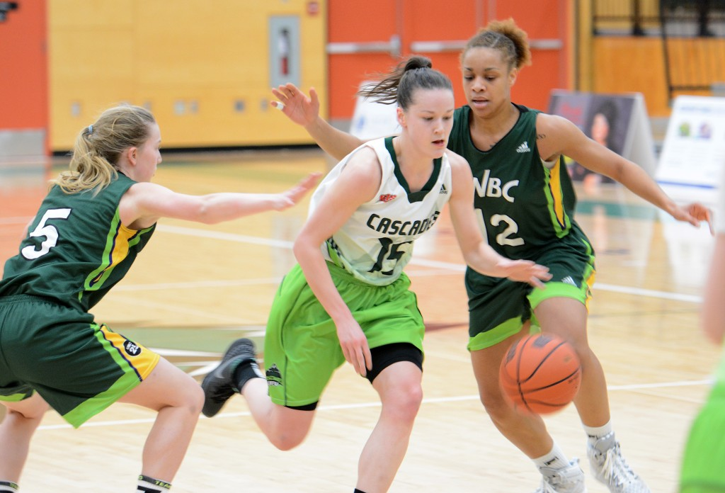 Shayna Cameron and the Cascades weren't able to get much going offensively vs. the UNBC Timberwolves on Friday.