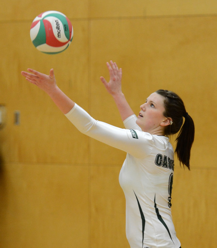 Second-year middle Mandelyn Erikson returned from injury to spark the Cascades on Saturday.