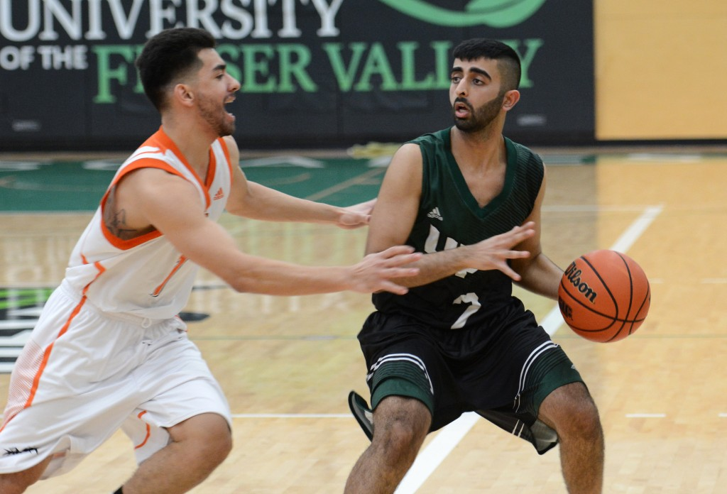 UFV point guard Manny Dulay scored 11 points in Saturday's win over TRU.