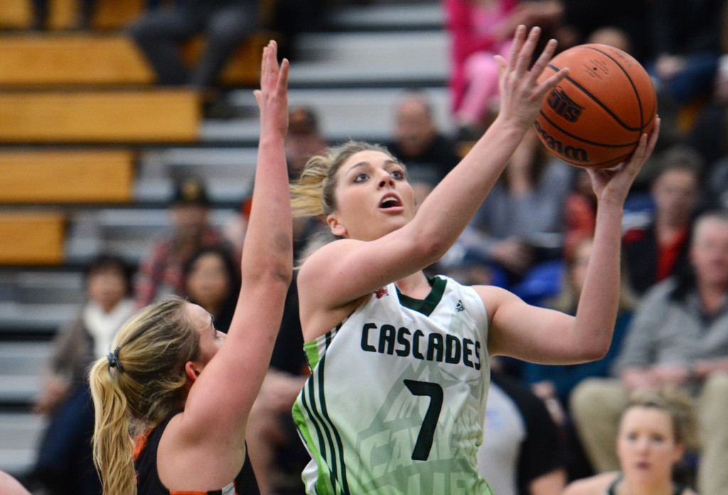 Canada West scoring leader Kayli Sartori racked up 14 points in UFV's big win over TRU on Friday.