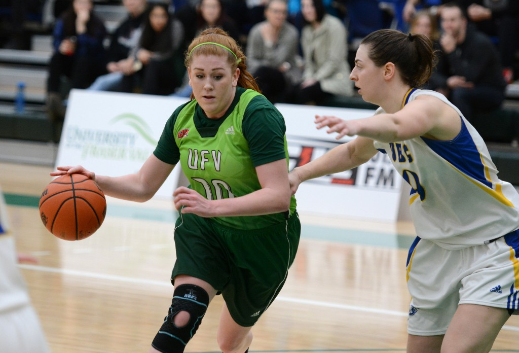 Cascades rookie forward Taylor Claggett had a huge night, racking up 18 points on 6-of-12 shooting from the field. But the UBC Thunderbirds rallied late in regulation and won in OT.