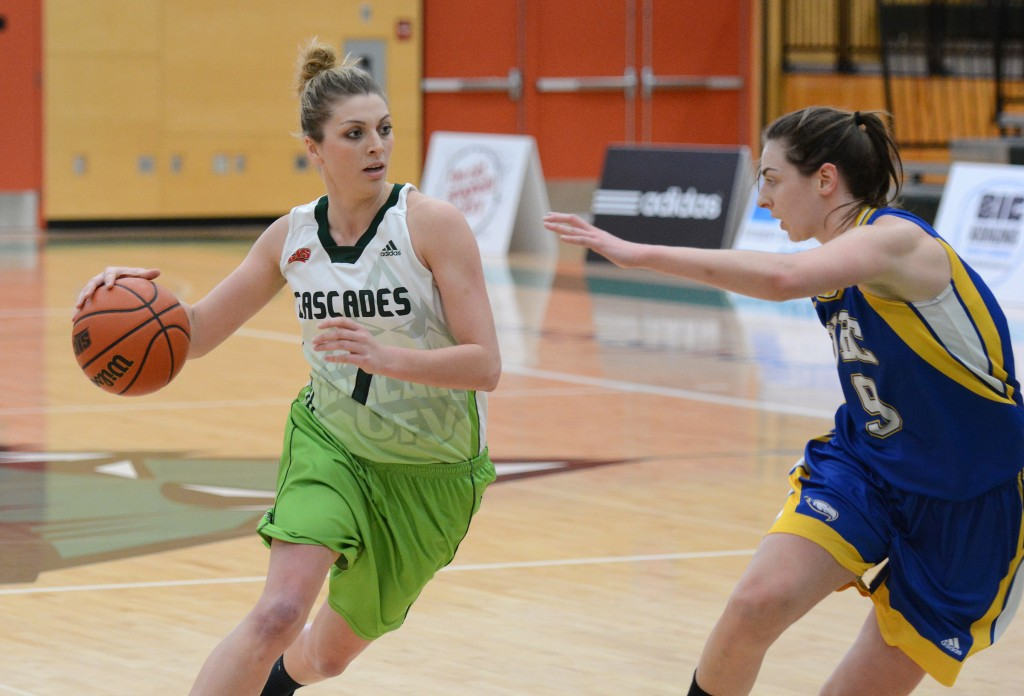 Kayli Sartori racked up a game-high 17 points and 12 rebounds, but she was one of only two Cascades to score in double figures in a loss to UBC in their playoff opener.