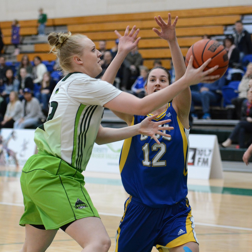 UFV forward Katie Brink registered four points and five rebounds in Friday's defeat.