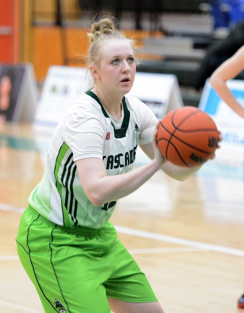 Katie Brink scored 12 points, including a couple of key buckets in the fourth quarter, as UFV defeated UBC Okanagan on the road on Friday.