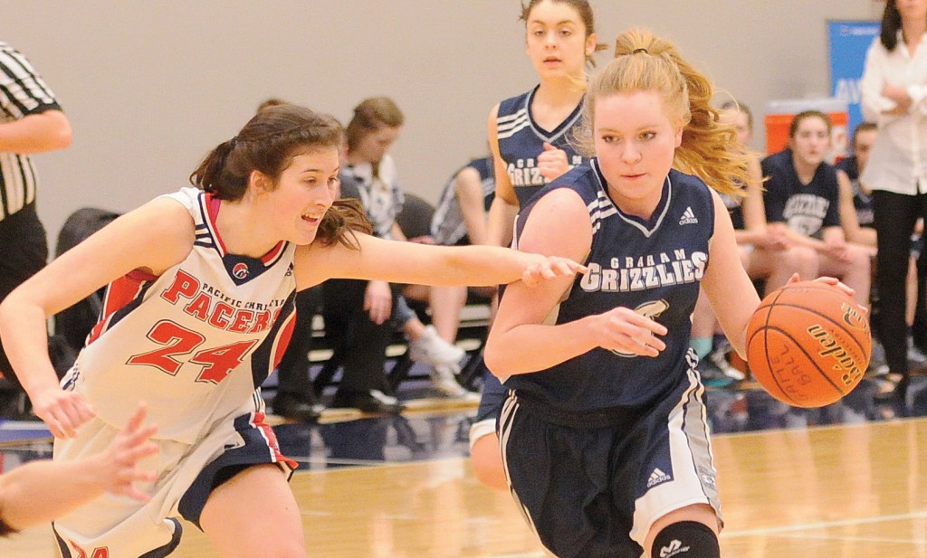 Katherine Holden helped her G.W. Graham Grizzlies earn their first-ever provincial championship berth. (Photo courtesy Eric Welsh / Chilliwack Progress)