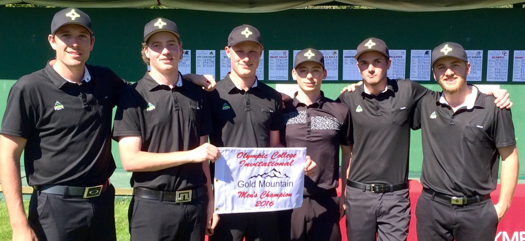 The Cascades men's golf team took first place at the Olympic College Invitational.