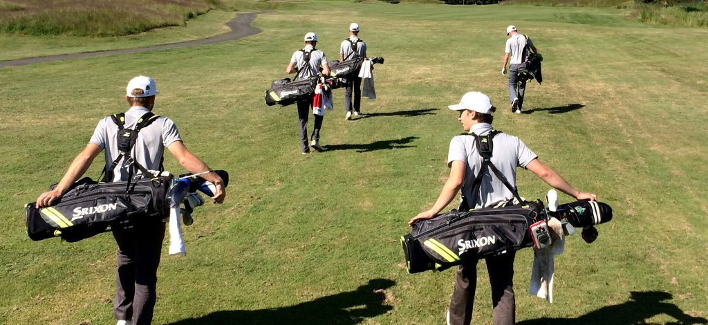 The Cascades men's golf team participated in a practice round at Morningstar Golf Course on Monday in preparation for the Canadian University/College Championship.
