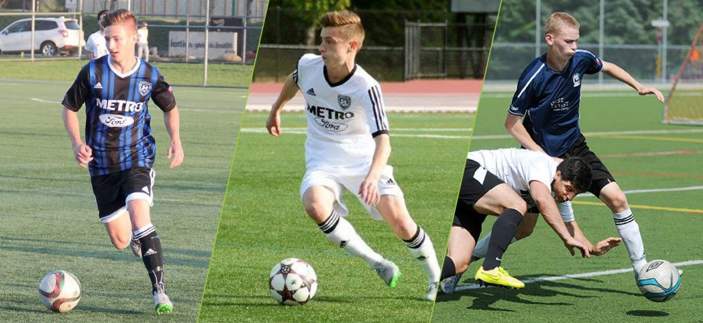 Nate Trampleasure, Bronson Hartley and Kenny Lamour have committed to the Cascades men's soccer program.