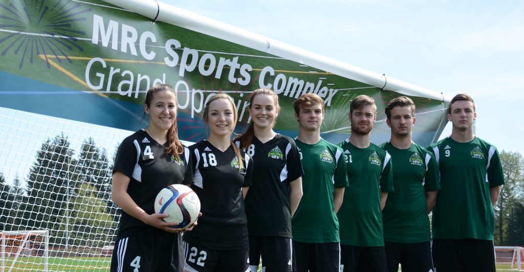 The Cascades were on hand for the grand opening of the MRC Sports Complex in April.