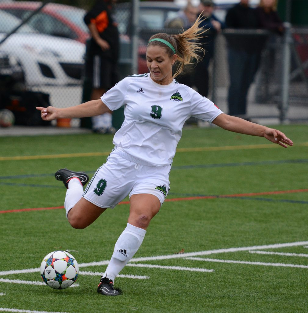Monika Levarsky scored twice and set up Amanda Carruthers for the opening goal in Saturday's 4-1 win over Seattle Pacific.