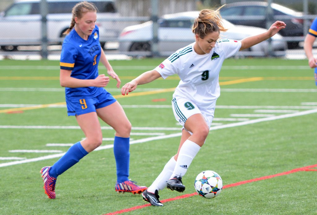 Monika Levarsky was a force for the Cascades on Wednesday, notching a goal and an assist in a 4-2 preseason win over Western Washington. (UFV Cascades file photo)