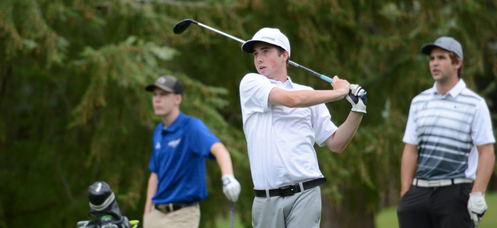 Halen Davis is in his first year with the Cascades men's golf team.
