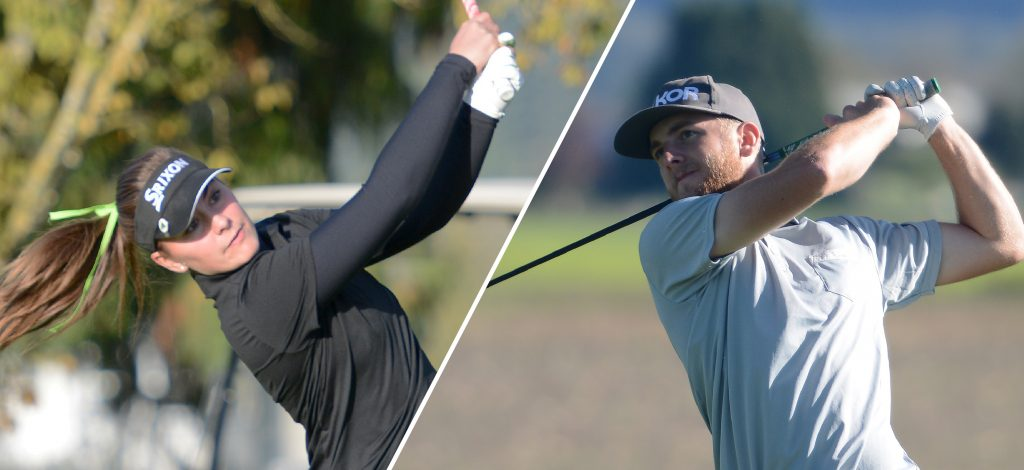 All-Canadians Hannah Dirksen and Connor O'Dell will lead the Cascades golf teams into the 2016 PacWest season.
